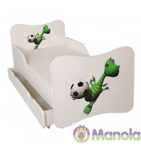 Manola A Dínó gyerekágy ágyneműtartóval