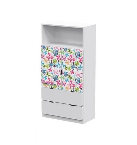 Manola DM Virágos 3 gyerekszoba szekrény