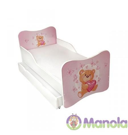 Manola A Teddy maci gyerekágy ágyneműtartóval