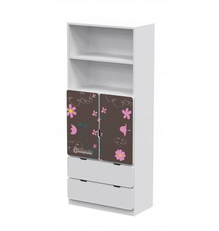 Manola DB Virágos 2 gyerekszoba szekrény