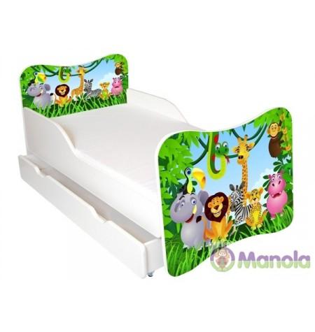 Manola A Zoo gyerekágy ágyneműtartóval