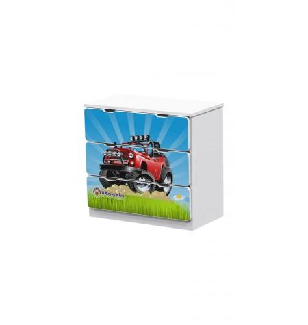 Manola Jeep gyerekszoba komód