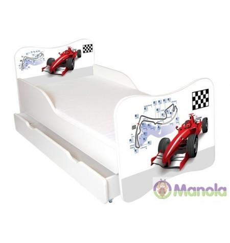 Manola Formula ágyneműtartós gyerekágy megemelt oldalfallal