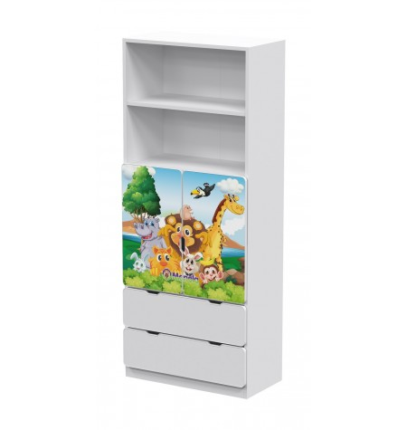Manola DB Zoo 3 gyerekszoba szekrény