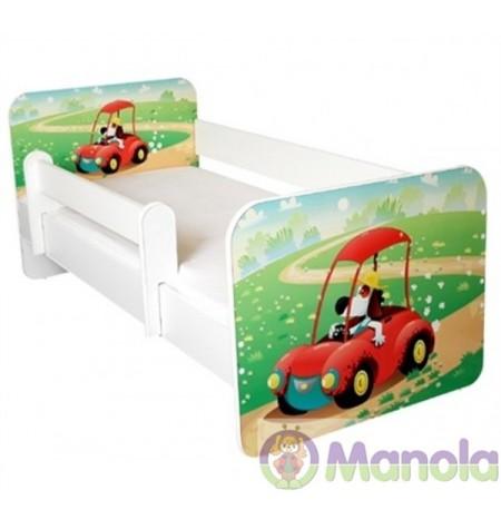 Manola B autós gyerekágy levehető leesésgátlóval
