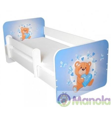 Manola Brumi kék gyerekágy levehető leesésgátlóval