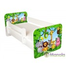 Manola B Zoo gyerekágy levehető leesésgátlóval