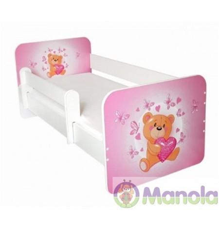 Manola B Teddy maci gyerekágy levehető leesésgátlóval