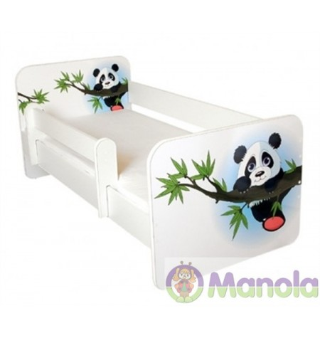 Manola B Panda gyerekágy levehető leesésgátlóval