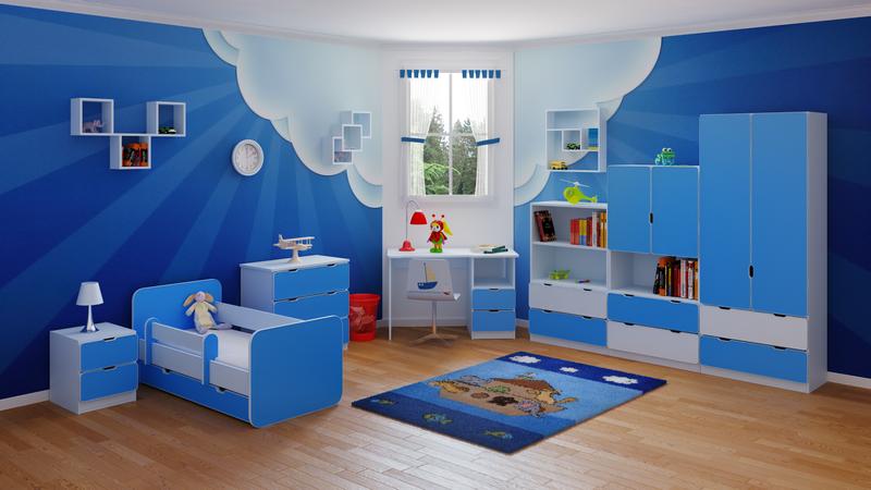 Kék gyerekszoba bútorok